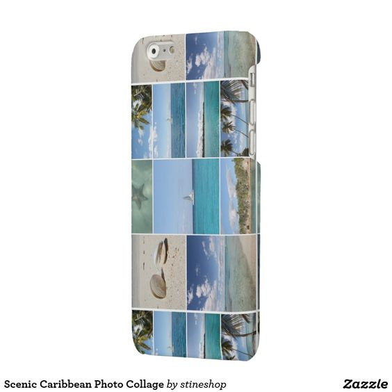 Scenic Caribbean Photo Collage Glossy iPhone 6 Case #sold on #zazzle