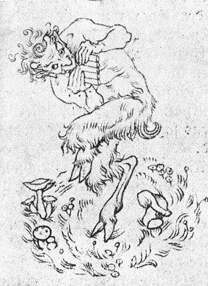 Pan ilustración para la version alemana del libro de Psyche de Couperus