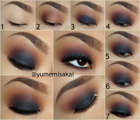 Warm matte smokey eye makeup tutorial