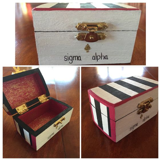 Kate Spade inspired pin box. #SigmaAlpha #UofA