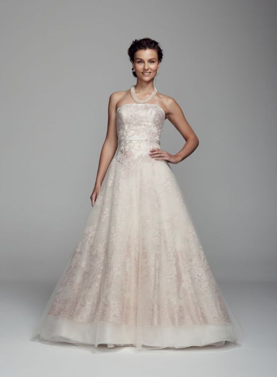Best For the most romantic Summer wedding beautiful wedding gown in rum pink colour