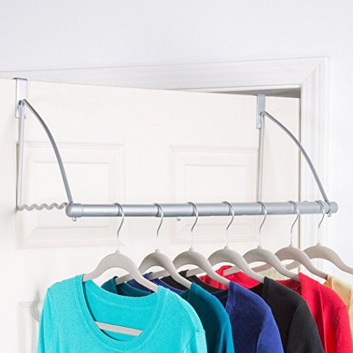 Over The Door Closet Rod Multifunctional Over The Door Https Www Amazon C Dorm Room Storage Small Closet Organization Bedroom Laundry Room Organization