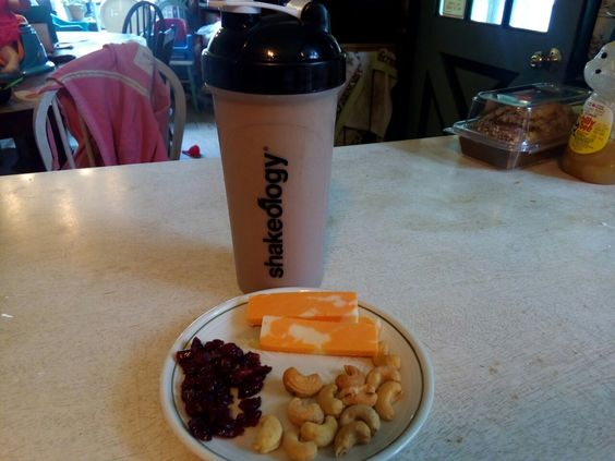 Chocolate shakeology for breakfast great way to start my day