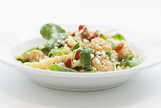 Shrimp Gemelli Pasta with cherry peppers, arugula, and feta cheese in a basil vinaigrette. Sprinkled with pine nuts!: Cherry Peppers, Feta Cheese, Supper Club, Basil Vinaigrette, Pine Nuts, Shrimp Gemelli, Gemelli Pasta, Crocker Cafe, Peppers Arugula