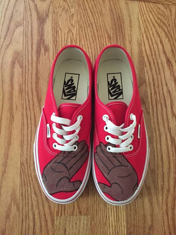 Delta Sigma Theta Customized Vans #VANS #Walking