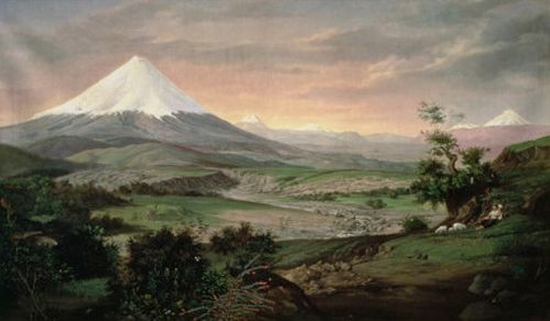 Rafael Troya - The Cotopaxi, Ecuador - Museo Guilermo Perez Chiriboga del Banco Central, Quito, Ecuador
