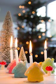 pfefferminzgruen: Mini Kerzenhalter aus Salzteig