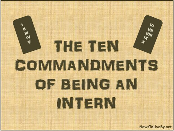 the 10 commandments of being an intern    wwwnewstoliveby - when to quit your internship