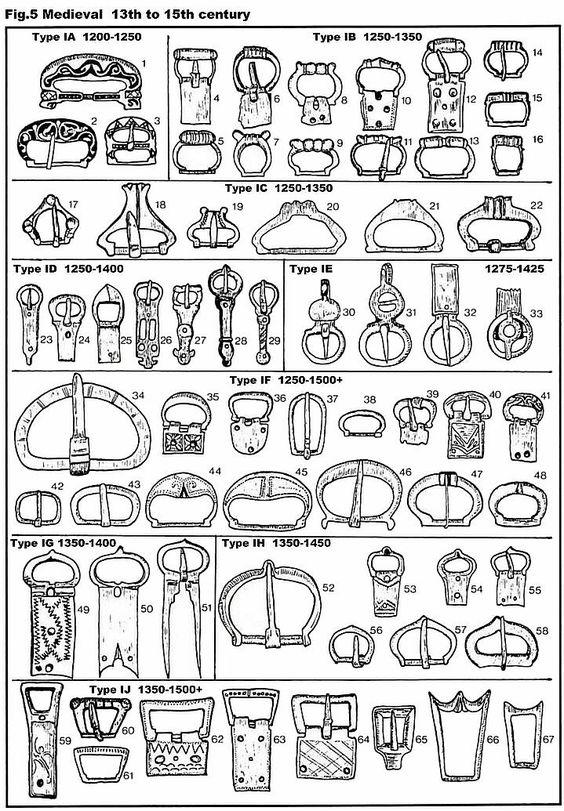 Medieval Belt Buckles, 17