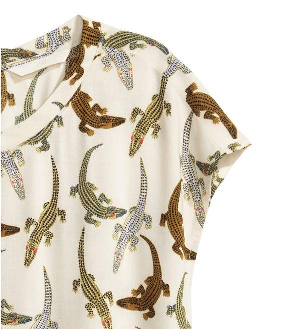 H&M Crocodile print dress
