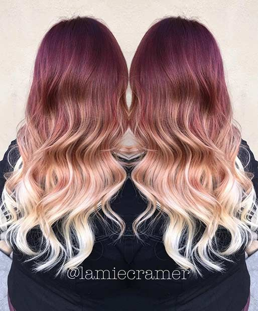 31 Best Red Ombre Hair Color Ideas Page 2 Of 3 Stayglam Ombre Hair Blonde Ombre Hair Color Blonde Ombre