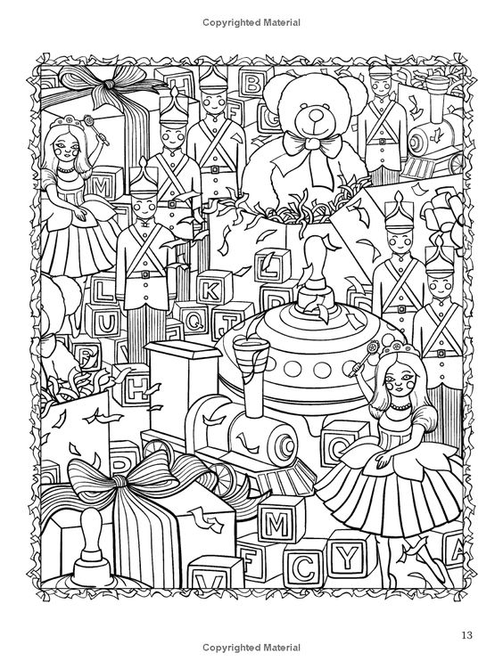 ChristmasScapes (Dover Holiday Coloring Book): Jessica Mazurkiewicz: 9780486471952: Amazon.com: Books