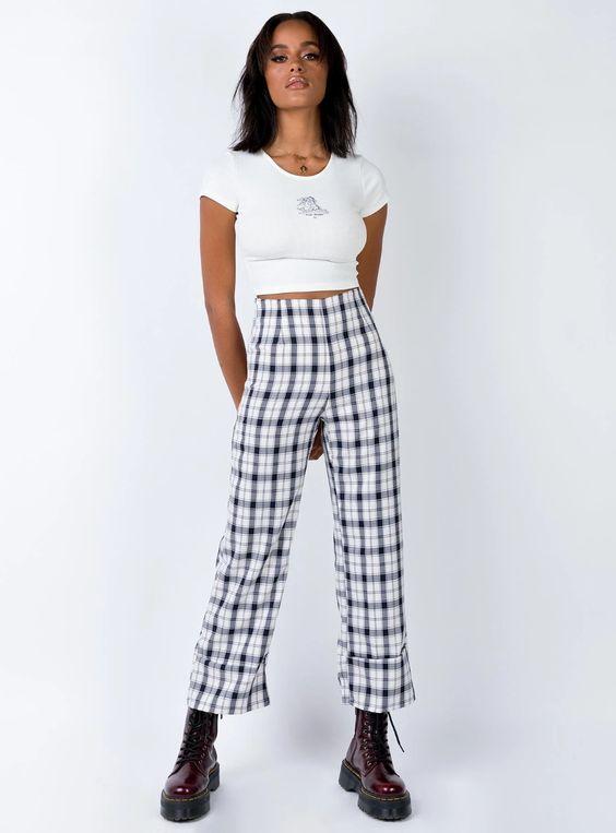 Euros Pants Black/White – Princess Polly USA