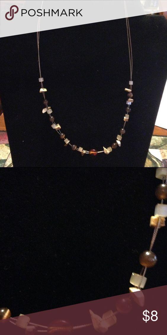 Lia Sophia Butterscotch necklace Jasper chips on wire necklace. Lia Sophia Jewelry Necklaces