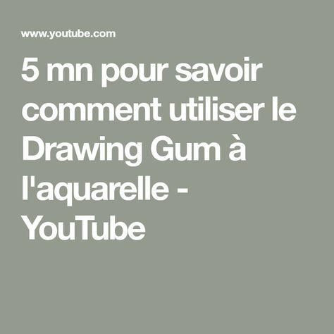 5 Mn Pour Savoir Comment Utiliser Le Drawing Gum A L Aquarelle