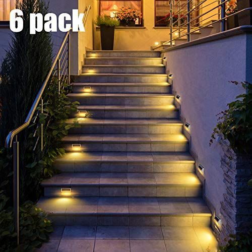 Solar Deck Lights Dbf Upgrade 30 Led Solar Step Lights Metal Outdoor Decorative Solar Powered Wall Light Lan In 2020 Solar Deck Lights Solar Step Lights Step Lighting