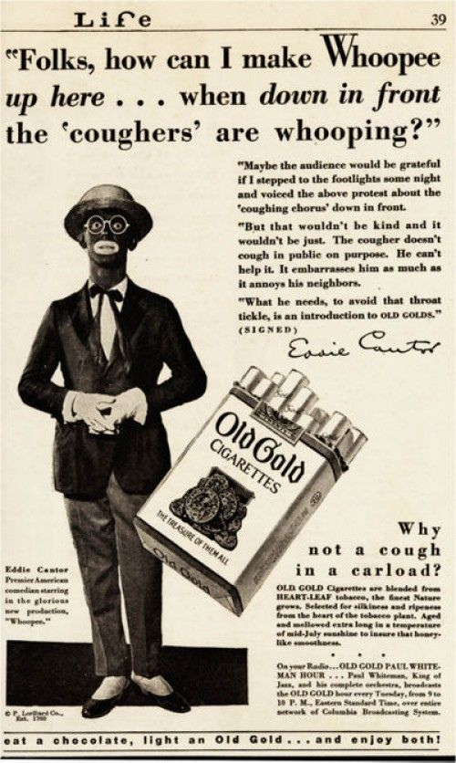 eddie - cantor-old-gold Cigarettes Ad