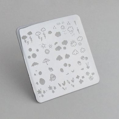 Clear Jelly Stamper- Flower & Sky Doodle (21)