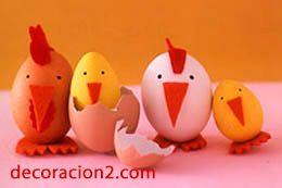 Huevos de pascua familia pollito, actividades pascua niños