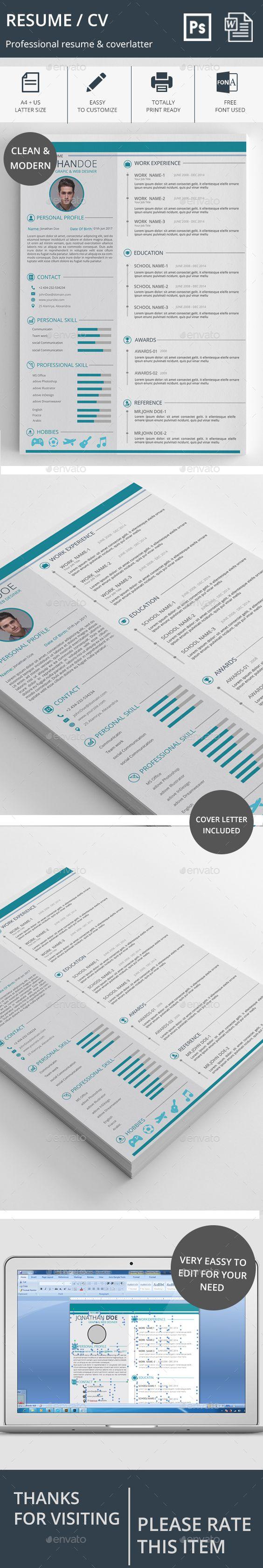 resume cv cv template resume and templates resume cv template psd ms word docx