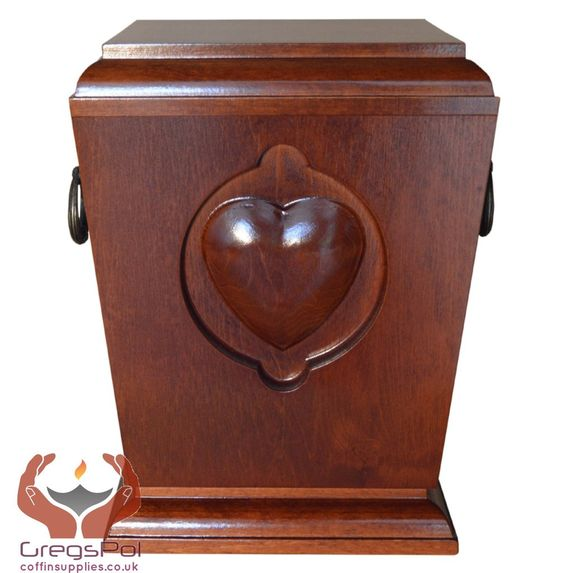 BEAUTIFUL SOLID WOOD CASKE,FUNERAL ASHES URN FOR ADULT.(WU39)