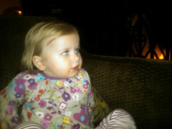 Avery watching XFACTOR by the fire.