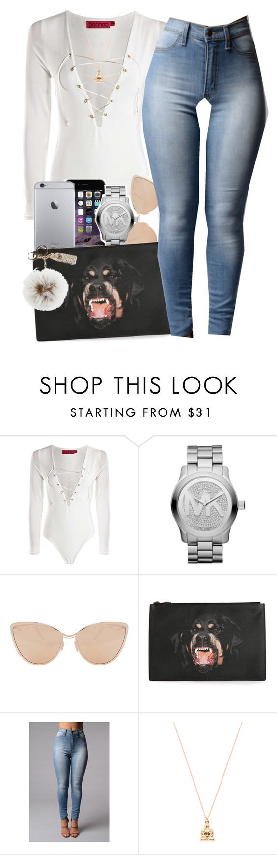 """"""".............."""" by fxrrxh ❤ liked on Polyvore featuring Michael Kors, Cutler and Gross, Givenchy, Good Charma and Overland Sheepskin Co."""