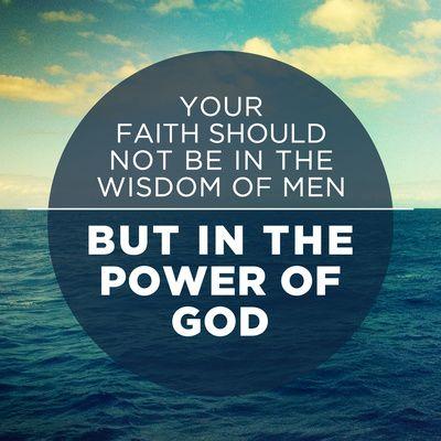 1 Cor 2:5
