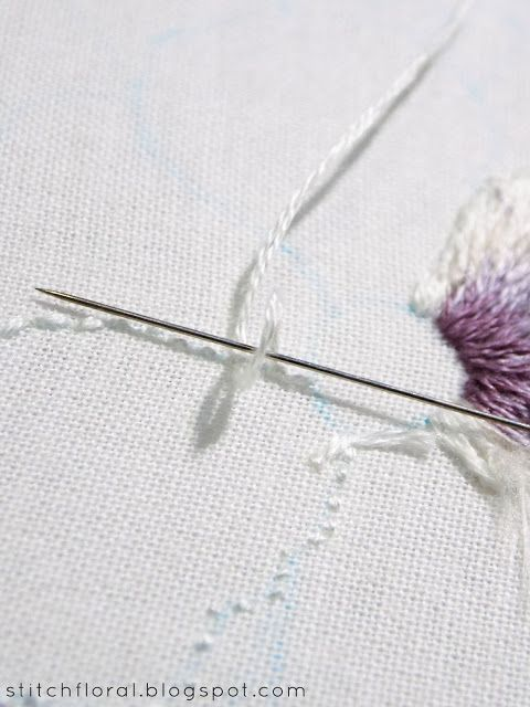 How To Finish Embroidery Stitch : finish, embroidery, stitch, Finish, Thread, Embroidery, Stitch, Floral, Stitches, Tutorial,, Stitches,, Sewing, Designs