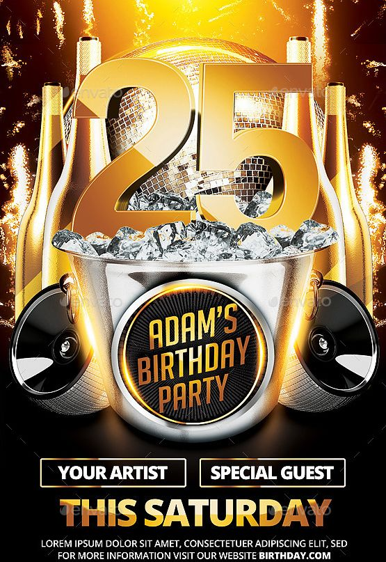 20 Beautifully Designed PSD Birthday Party Flyer Templates - comedy show flyer template