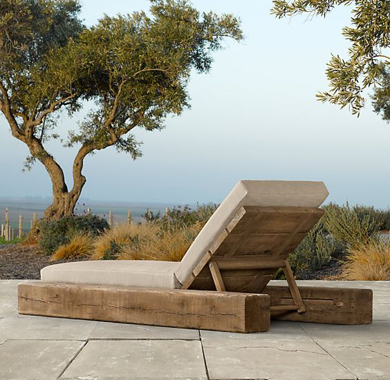 Restoration Hardware chaise (out of my price league). I know some handy people who could do this though. . .