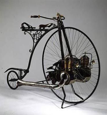 """The Motorized Penny Farthing  Built for the Movie """"Wild Wild West"""" and sold by Sotheby's to The Barber Vintage Motorsports Museum in Birmingham, Alabama."""