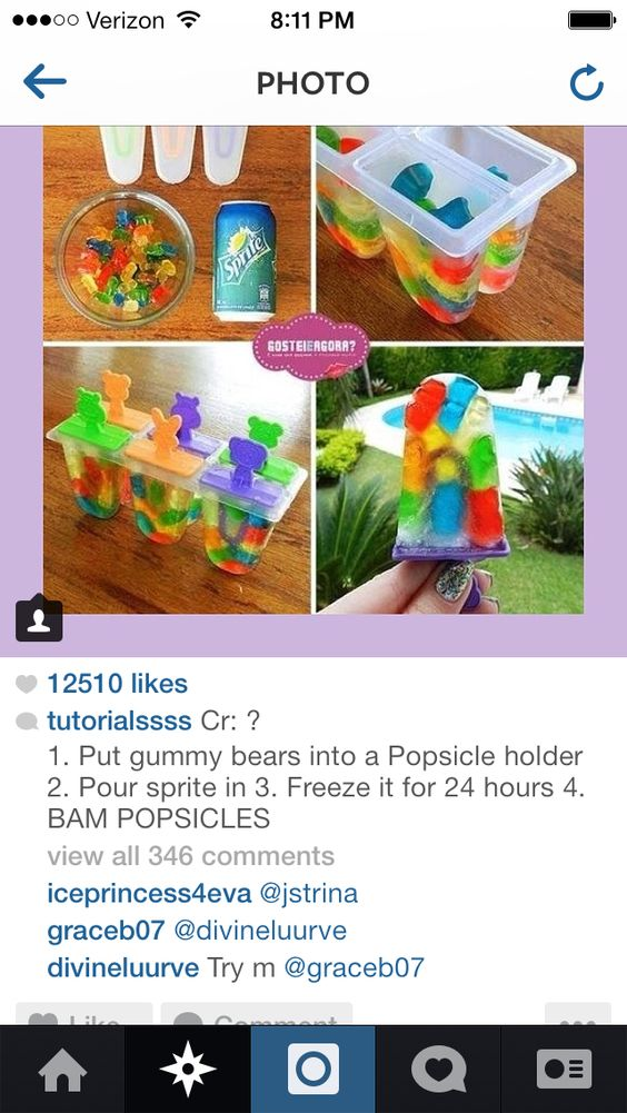 Summer Gummy Popsicles