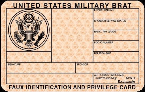 Free Blank Military Id Card Template Emetonlineblog Id Card Template Blank Id Cards Card Template