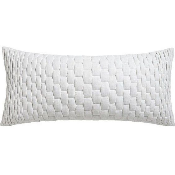 """CB2 Mason Ombre Quilted 36""""X16"""" Pillow With Feather-Down Insert ❤ liked on Polyvore featuring home, home decor, throw pillows, pillows, urban home decor, square throw pillows, feather filled throw pillows, cb2 and quilted throw pillows"""