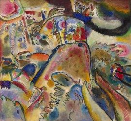 Vasily Kandinsky, Small Pleasures, June 1913. Oil on canvas, 43 3/8 x 47 inches (110.2 x 119.4 cm)
