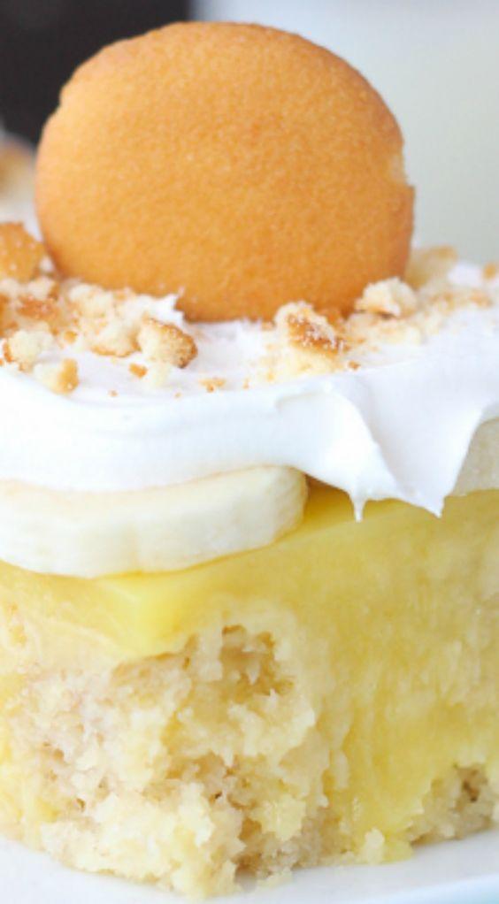 Poke cakes, Easy banana pudding and Nilla on Pinterest