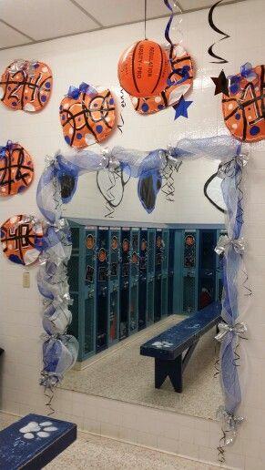locker room decorations for high school basketball