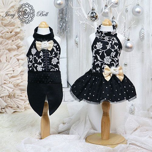"""For the """"Black Tie Affair""""  Antonio Designer Handmade Apparels for Pets / Free by JunyBell, $62.00"""