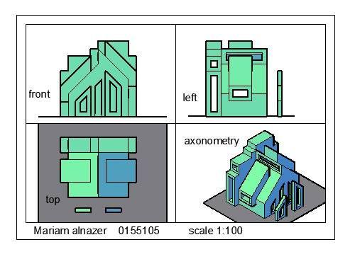 Mariam Al-Nazer Hasan Isawiالرسم والاظهار المعماري: