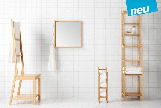 Ragrund Stuhl Mit Handtuchhalter Bambus Haus Deko Ikea Badezimmermobel Ikea