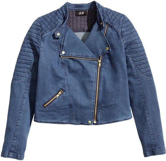 Pin for Later: 13 preiswerte Kleidungsstücke, die nicht danach aussehen H&M Denim Moto Jacket H&M Denim Jacket ($40)