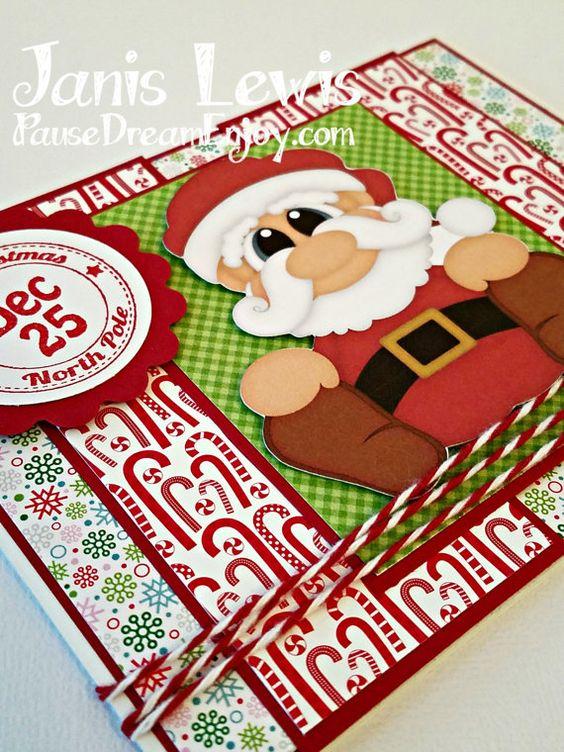 Handmade Christmas Card featuring Santa