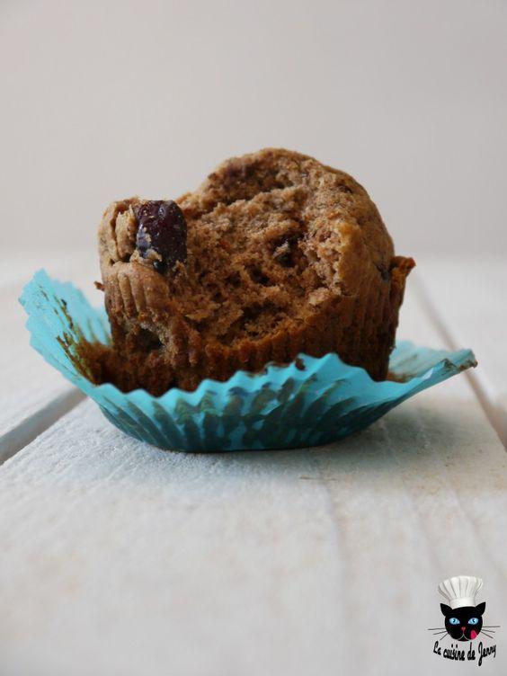 muffins chocolat noir/cranberries