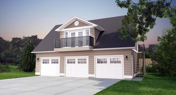 Garage plan 90941 3 car garage cars and bedroom apartment for Plans for 3 car garage with apartment above