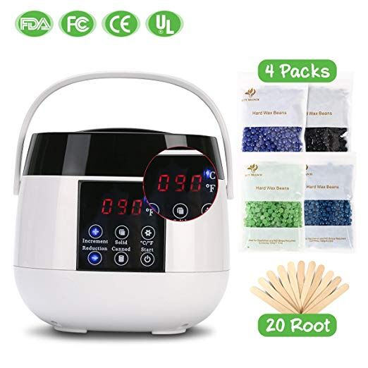 Wax Warmer Hair Removal Suncom Portable Waxing Kit With Lcd Digital Screen Electric Home Wax Kit Pot Heater For Arm Waxing Kit Home Waxing Kit Hard Wax Beans
