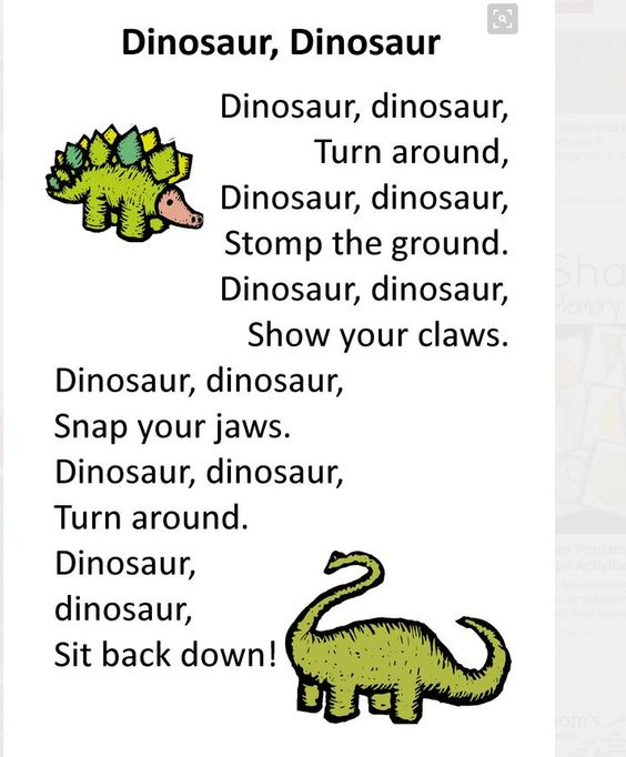 Do your little dinosaurs have a case of the wiggles? Have them stand and follow…