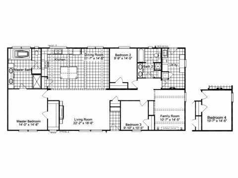 3 Bedroom Modular Home Plans Lovely The Carrington C Manufactured Home Floor Plan Or Michigan