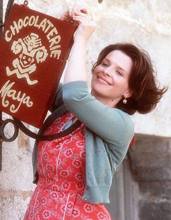 Juliette Binoche in the movie Chocolat. Tasty indeed. Loved that film, Johnny Depp, Juliette Binoche and Dame Judi Dench were great in it.