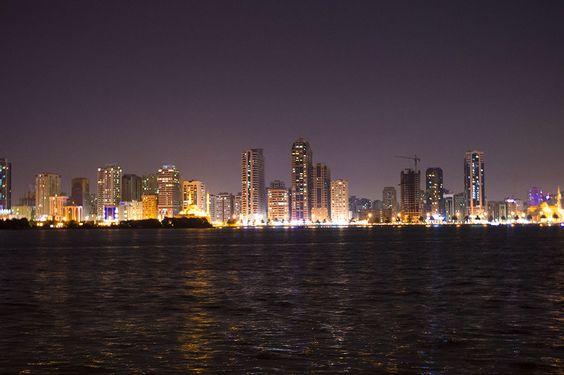 Sharjah Skyline in Night